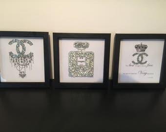 Set of 3 Chanel Frames