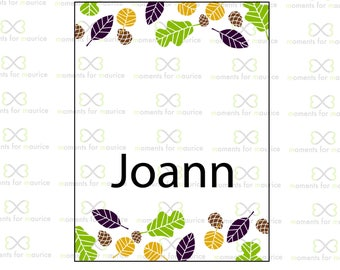 Leaf and Pinecone - Thanksgiving Place Card