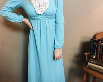 1970's Vintage Maxi-Dress