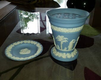 Wedgwood Vase & Small Plate