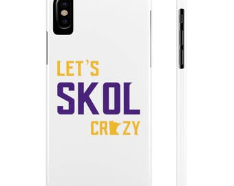 Let's Skol Crazy Minnesota Vikings Football Fan Purple Reign Miracle Slim Phone Case Apple iPhone Samsung Galaxy