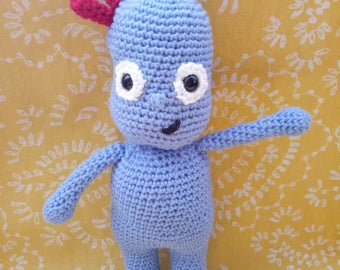 In the night garden inspired IGGLE PIGGLE, ABC kids loved character,  crochet soft toy.