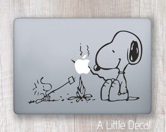 Snoopy Macbook Decal, Snoopy Laptop Sticker, Laptop Decal, Macbook Sticker Snoopy Dog