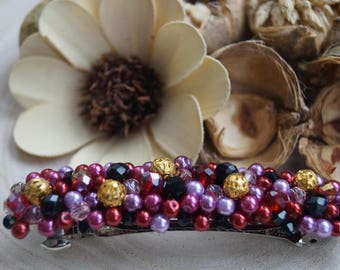 Handmade Barrette Embellished with Jewels