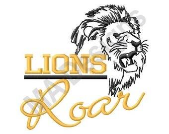 Lions Roar - Machine Embroidery Design, Lions, Lion
