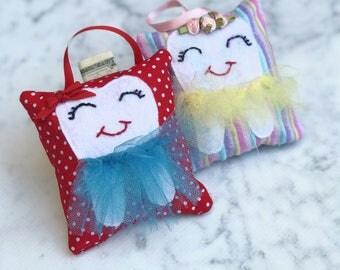 Tooth Fairy Pillow - Handmade - Girls Tooth Pillow