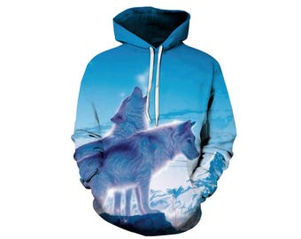 Wolf Hoodie, Wolf, Wolf Hoodies, Animal Prints, Animal Hoodie, Animal Hoodies, Wolves, Hoodie Wolf, Hoodie, 3d Hoodie, 3d Hoodies - Style 6