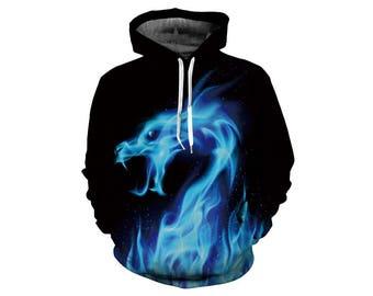 Dragon Hoodie, Dragon, Dragon Hoodies, Animal Prints, Animal Hoodie, Animal Hoodies, Dragons, Hoodie, 3d Hoodie, 3d Hoodies - Style 1