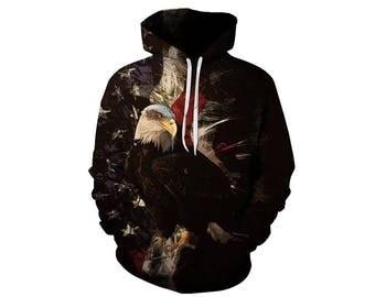 Eagle Hoodie, Eagle, Eagle Hoodies, Animal Prints, Animal Hoodie, Animal Hoodies, Eagles, Hoodie, 3d Hoodie, 3d Hoodies, Usa Hoodie Style 12
