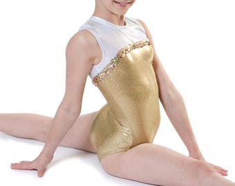 Girls Gymnastics Leotard Sizes 2-16 Brand New,Professionally Made - Solid Colors w/Trim