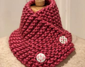 Handmade Two Button Scarf