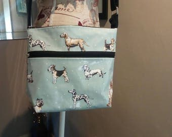 Doggy bag! Laminated cotton crossbody