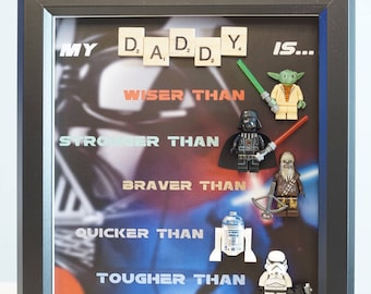Star Wars, Lego, Darth Vader, R2D2, Han, Storm Trooper gift for daddy, valentine, birthday inspired by LEGO
