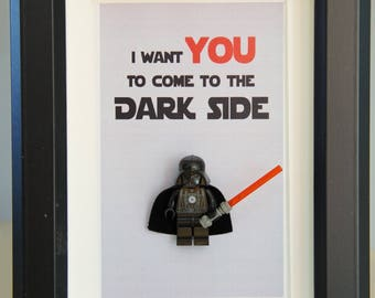 Star Wars, Lego, Lego minifigures Darth Vader for daddy husband birthday anniversary gift inspired by LEGO