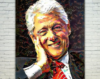 Bill Clinton - Bill Clinton Poster,Bill Clinton  Art,Bill Clinton Print,Bill Clinton Poster,Bill Clinton Merch,Bill Clinton Wall Art,Bill Cl