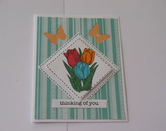 Pretty Tulip Thinking of You Card