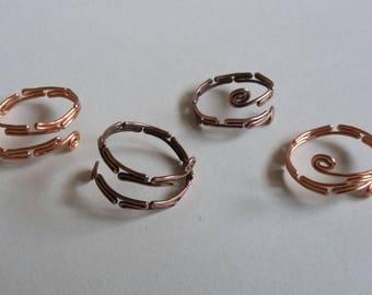 Adjustable Folded Copper Ring