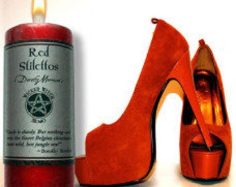 Wicked witch mojo red stiletto candle