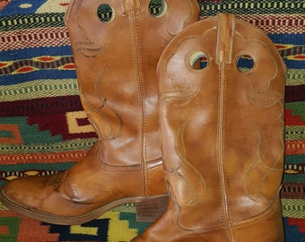 ladies leather cowboy boots 10
