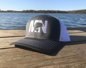 MN Bass SnapBack Grey on White