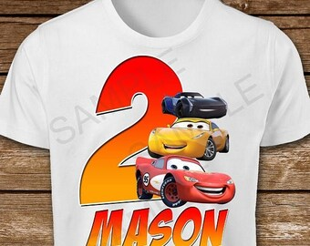 ON SALE 30% Cars Birthday Boy Iron On Transfer. Cars Iron On Transfer. Diy Cars Birthday Shirt. Cars 3 Iron On Transfer.