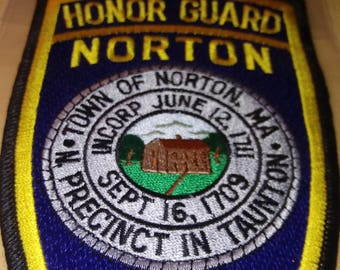 NORTON MASSACHUSETTS POLICE Honor Guard New Unused Patch