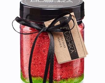 Natural scrub Watermelon, gum-scrub, scrub-chewing gum, watermelon, handmade scrub, ecoscrub
