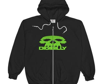 Digibilly Logo Zip Hoodie