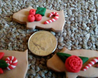 Christmas Pig Clay Figurines
