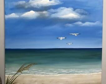 Three gulls