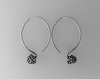 Fine Silver Alpine Strawberry Earring drops