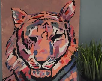 Colourful Tiger Painting