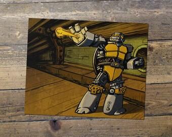 Metalhead - Teenage Mutant Ninja Turtles - Fan Art - Metalhead Print - Gift for Him