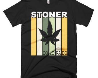Stoner Colorado Funny Short-Sleeve T-Shirt