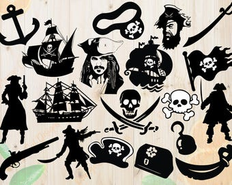 Pirates Svg, Pirates Silhouettes Svg, Dxf, Eps & Png Cutfiles, Pirates Silhouette files for Cricut, Silhouette cameo, Pirates Bundles