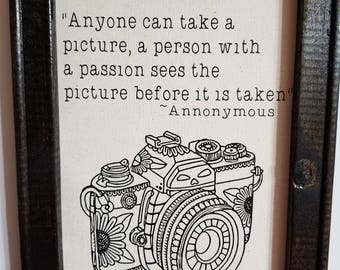 Camera Picture with Quote