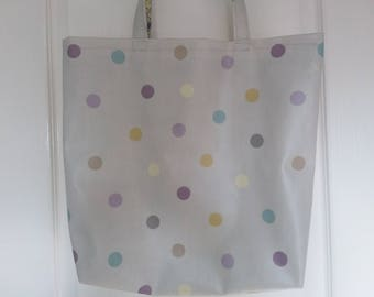 Oil cloth/ laminated cotton tote bag, shopping bag.
