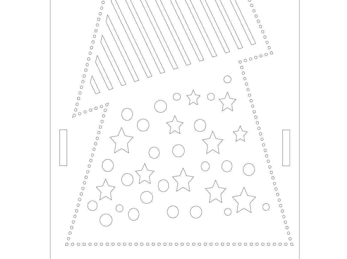Christmas Wine Box Templates for Laser Cutting • Christmas Tree ... for Laser Cut Box Template  54lyp