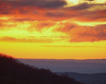 Mount Rogers - Virginia, Appalachian Trail, Grayson Highlands National Park, Landscape Photography, Dusk, Sunset, Romantic, Wall Art