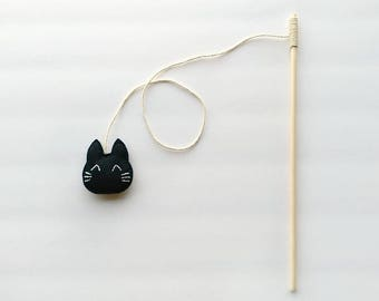 Black Cat Teaser Toy, Cat Toy Teaser Wand, Cat Toy Wand, Black Cat Toy, Cat Teaser, Catnip Cat Toy, Cat Toys, Cat Wand Toy, Black Cat