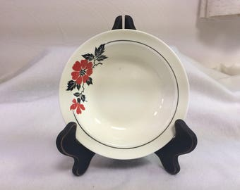 """Fruit/Sauce Bowl from Hall's """"Red Poppy"""" Pattern"""