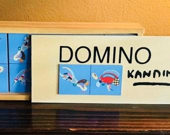 "Vintage - Limited Edition Wassaly Kandinsky Domino Set  - ""BLUE DE CIEL"""