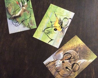 Spring Meadow. Upcycled art cards