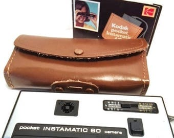 Kodak Instamatic Pocket Camera, Case and Instruction Manual 1960's