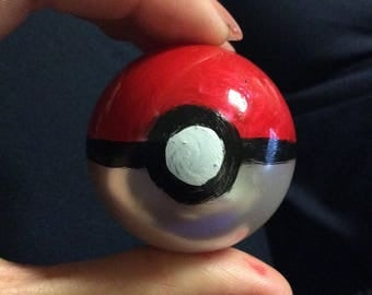 Hand-Painted Pokeball Bead