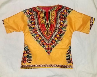 dashiki top/dashiki shirt/toddler shirt/newborn shirt/Ankara shirt/unisex kente top/