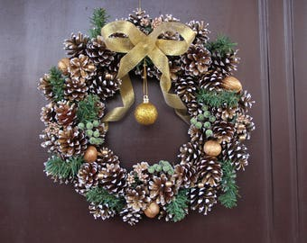 Christmas wreath Gold