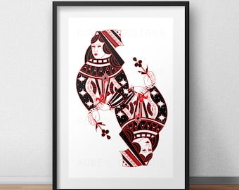 Queen of Hearts Inspired Poster