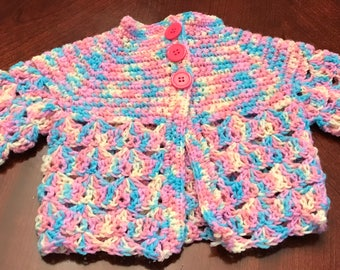Crochet Baby Sweater 3 to 6 months