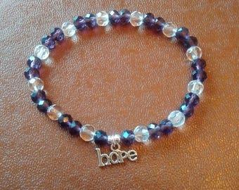 Beads and Charm Bracelet - Hope